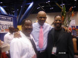 Willie Skillern; Senior Pastor Kirbyjon Caldwell; Maurice Skillern at The Houston Black Expo; Houston, TX- 2008